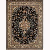 فرش ماشینی شاهکار کد ۱۱۷۵ مشکی