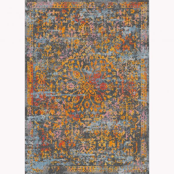 فرش ماشینی الگانت کد ۲۵۸۵ زغالی