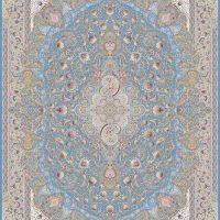 فرش درباری کد5115 آبی