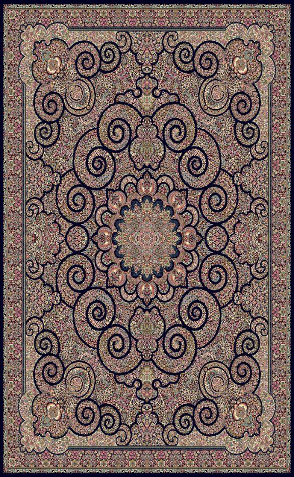 فرش تبریز کد ۶۱۰۵ سرمه ای