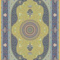 فرش حریر کد ۵۰۵۰ طلایی