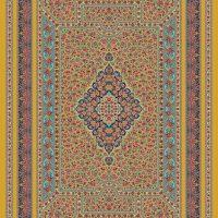 فرش حریر کد ۵۰۵۳ طلایی