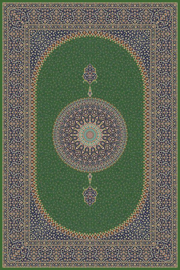 فرش حریر کد ۵۰۶۵ سبز