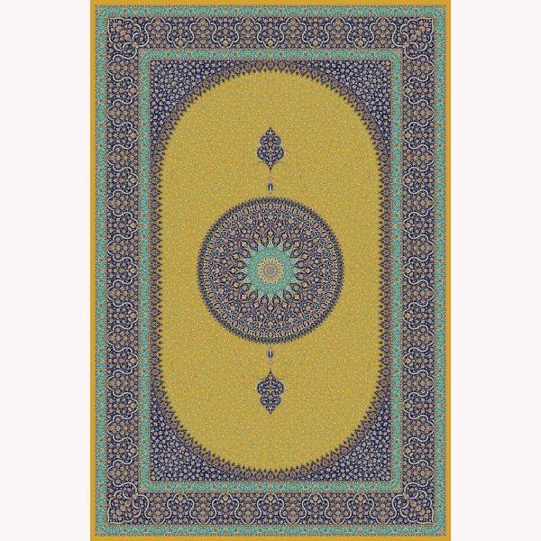 فرش ماشینی حریر کد ۵۰۶۵ طلایی