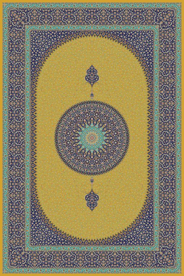 فرش حریر کد ۵۰۶۵ طلایی