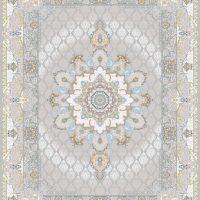 فرش اشرافی کد 1567 نقره ای