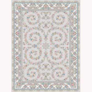فرش ماشینی اشرافی کد ۱۵۹۳ نقره ای