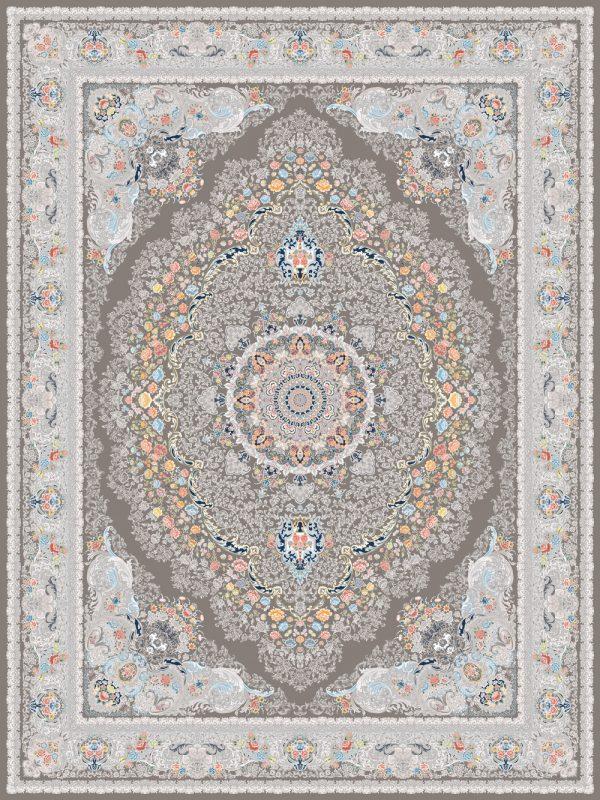 فرش اشرافی کد 1599 ذغالی