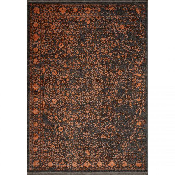 فرش ماشینی الگانت کد ۲۵۲۵ زغالی