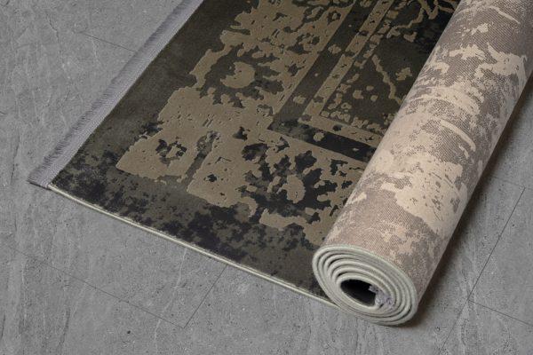فرش ماشینی الگانت کد ۲۵۳۵ زغالی