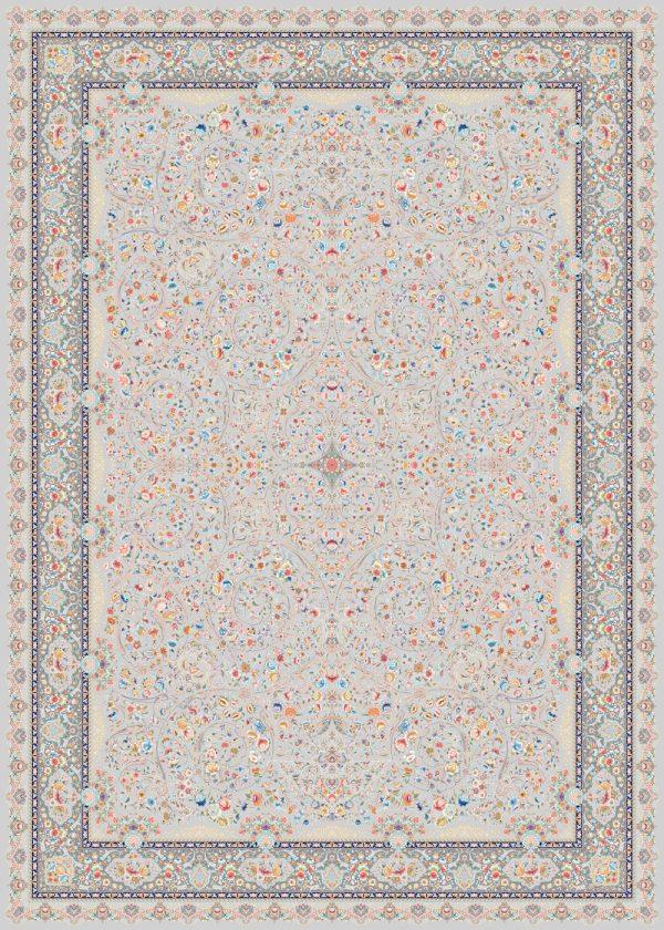 فرش شازده کد ۵۱۰۹ نقره ای