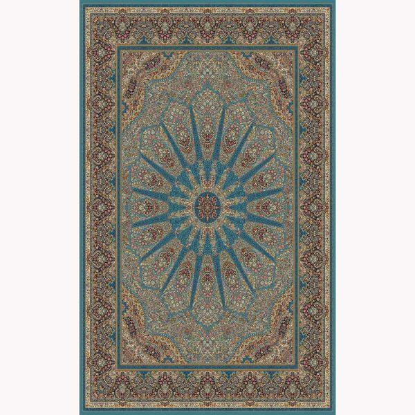 فرش ماشینی کرمان کد ۶۱۰۱ آبی