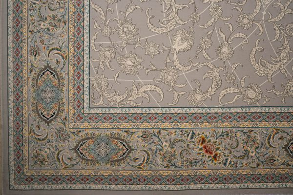 فرش ماشینی اشرافی ۱۵۰۵ نقره ای