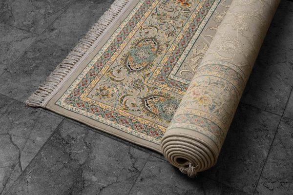 فرش ماشینی اشرافی نقره ای
