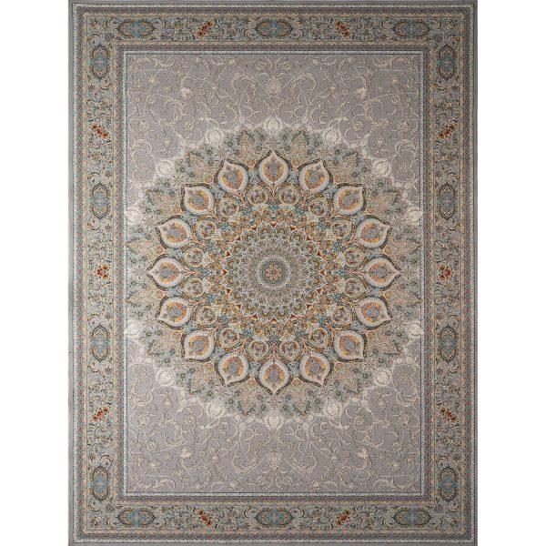 فرش ماشینی اشرافی کد ۱۵۰۵ نقره ای