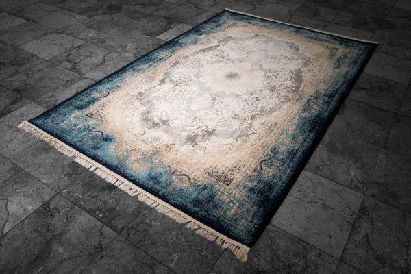 فرش ماشینی شازده کد ۵۱۷۳ سرمه ای