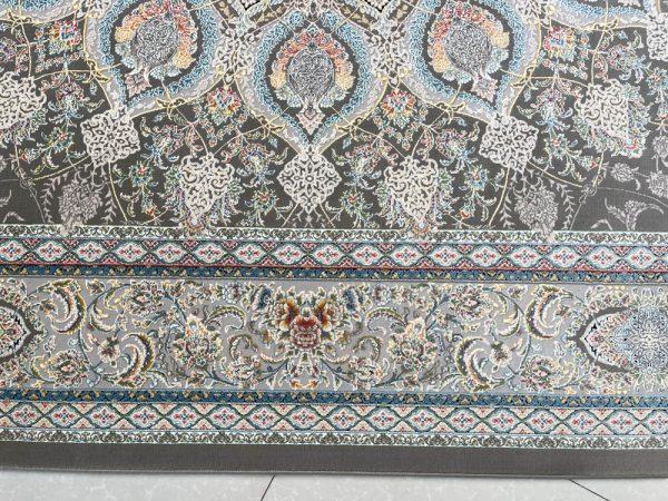 فرش ماشینی اشرافی ۱۵۰۵ ذغالی