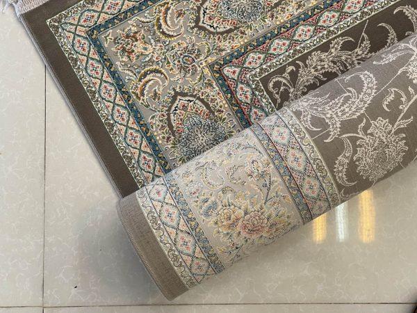 فرش ماشینی اشرافی ذغالی